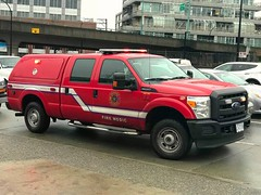 Vancouver, BC Fire-Medic Unit (walneylad) Tags: vancouver britishcolumbia canada firedepartment firerescue fireservice firebrigade bomberos bombeiros pompiers emergencyvehicle firevehicle fireapparatus fireappliance fireengine firetruck rescuevehicle emergency paramedic firemedic medicunit red white ford f250xl 4x4 medic8 vfd vfrs vancouverfiredepartment