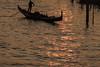 Rialto Sunset (Rocacidi) Tags: venice canale canal sunset golden gondola gondole venezia gondolier rialto reflections