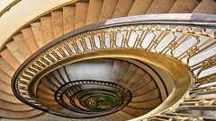 Atlanta, GA: 75 Ponce Condominiums staircase (nabobswims) Tags: 75poncecondominiums atlanta ga georgia hdr highdynamicrange ilce6000 lightroom midtownatlanta mirrorless nabob nabobswims openhouseatlanta photomatix sel1018 sonya6000 staircase us unitedstates