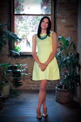 yellow dress 14 (Hannah McKnight) Tags: tgirl transgender transgirl model crossdress crossdresser stilettos