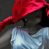 Camouflaging Feelings (coollessons2004) Tags: red hat mystery mysterious woman beautiful