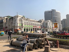 It is Difficult to Believe the World is Conspiring to End Under the Illusion of a Clear Blue Sky (Mayank Austen Soofi) Tags: connaught place it is difficult believe world conspiring end under illusion clear blue sky