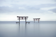 Echoes (小川 Ogawasan) Tags: japan japon sea ariake torii shinto color le nd longexposure