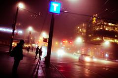 sci fi vancouver (chrisyakimov) Tags: crossroads vancouver silhouette cambie commuters mist scifi fog explorebc explorevancouver transit vgh yvr