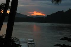 sunset by the Mekong River (_gem_) Tags: travel luangprabang laos asia southeastasia rural countryside nature country mekong river mekongriver water sunset