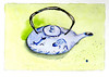 Koi Teapot (lwdphoto) Tags: lance duffin lanceduffin watercolor watercolorpencils painting art drawing sketching tea teapot japanese koi