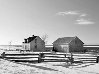 Maison de campagne au bord du fleuve St-Laurent à Grand-Métis.