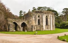 Chapter House (Keith in Exeter) Tags: chapterhouse margam abbey monastery ancient ruins architecture building cistercian landscape tree grass road stonework arch wales