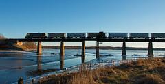Silhoutte (jc_canon) Tags: centralmainequebec cmq centralmainequebecrailway thomastonmaine rocklandbranch millcreek silhoutte train freighttrain freight brige railroadbridge geb237 b237 ge coast mainecoast