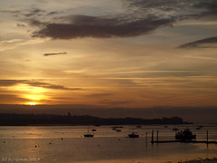 Last dawn of the month (ExeDave) Tags: pa316951 exe estuary starcross teignbridge exmouth east devon sw england gb uk coastal tidal river midtide landscape waterscape dawn sunrise morning ferry boats yachts moored sssi spa natura natura2000 n2k site ramsarsite october 2017 pontoon jetty iba