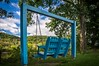 Wish you were here (FotoFloridian) Tags: swing outdoors nature summer woodmaterial relaxation grass greencolor swinging tree chair blue sky day sunlight tranquilscene newyork susquehanna sony a6000 alpha hdr clouds