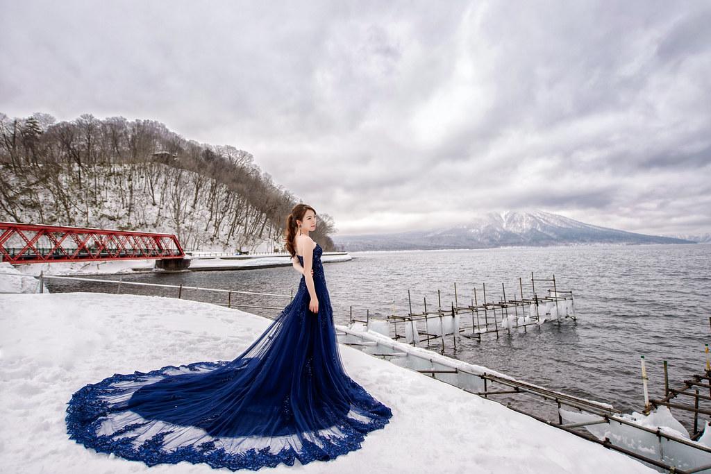 北海道婚紗 支芴湖婚紗拍攝禮服 : Toris Wedding
