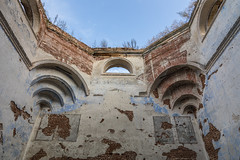 Abandoned Church. (Oleg.A) Tags: ancient penzaregion russia church inside brick outdoor rural materials villiage countryside ruined abandoned interior old destroyed building orthodox cathedral architecture cross wall orange evening saintmichaelthearchangelchurch catedral outdoors penzenskayaoblast ru