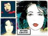Self Portrait Triptych on my 43rd Birthday (FutureNostalgia) Tags: popartimitation relics dated iconography iconoclast 15minutes culture americanpeople propaganda advertising spindoctor publicrelations image catchphrase marketing targetaudience demographic expirationdate shelflife menopause youthculture middleage generationx