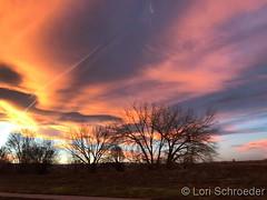 November 19, 2017 - A stunning sunset along the Front Range. (Lori Schroeder)