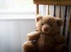 Sometimes I Need To Be Alone (HTBT) (13skies) Tags: chair sitting windowlight window curtain light teddybeartuesday bear brown fuzzy cuddly loving love silent quiet calm woodenchair teddybear happyteddybeartuesday thinking ponder