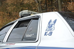Elizabeth and West Elizabeth Police Department (Emergency_Spotter) Tags: k9 colt kanine black blue single spotlight elizabeth west fan loaded tennis ball caution code3 steelies dial 911 cop cops police department window covers officer brian shaw funeral procession tint antenna new kensington picture german sheperd old but gold unit 1607k pittsburgh area pennsylvania radar