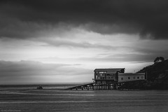 Into the sea (The Frustrated Photog (Anthony) ADPphotography) Tags: architecture category external pembrokeshire places rnlistation seascape tenby travel wales wky ocean sea seaside coast coastal coastline water monochrome blackandwhite bw whiteandblack canon canon70d canon1585mm outdoor travelphotography landscapephotography sky boat structure building pier launch clouds cloudysky greyclouds