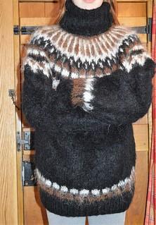 Cuddly mohair design - icelandic pattern sweater
