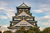 At the castle (21mapple) Tags: osakacastle osaka castle medieval structure building outdoors outdoor outside out old trees tree japan japanese clouds blue sky