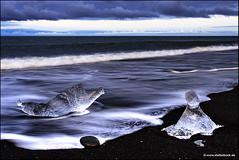 Jökulsárlón - Ice Beach Iceland (Stefan Bock) Tags: iceland sunset nature natur landscape landschaft water wasser sky himmel longexposure langzeitbelichtung island outdoor jökulsárlón icebeach ice eis diamondbeach glacier