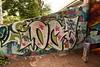 OC (TheGraffitiHunters) Tags: graffiti graff spray paint street art colorful bum trail riverwalk new jersey nj cement wall oc