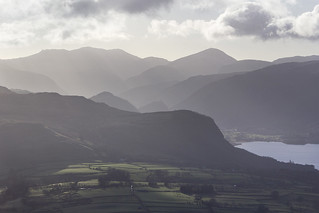 View south from Blease Fell (Blencathra), Lake District National Park, Cumbria, UK