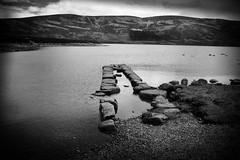 Loch Muich BW (SawardPhotography) Tags: loch muich scotland aberdeenshire stones lake rock river highland walk treck hiking cairngorms black white blackwhite hills