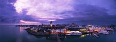 Friedrichshafen at Night (johaennesy) Tags: panorama hugin gimp rawtherapee opensourcesoftware bluehour night nightphotography cityscape skyline pentaxian stitching warm