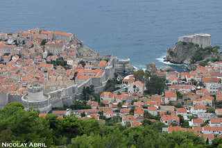 View over walls of Dubrovnik