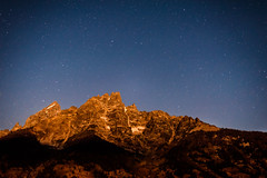 Moonlight on the Tetons (chrislon28) Tags: tetons astro astronomy stars mountains moon moonlight grandteton astrophotography nikon