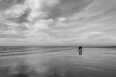 Richting Oostende - Direction Ostend (BE) (de_frakke) Tags: coast nortthsea noordzee strand wandelen walking flanders vlaanderen kust bw monochrome