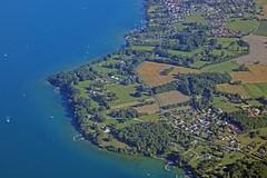 // la pointe d'Yvoire (Riex) Tags: yvoire savoie france lac lake leman flying envol aerialphotography birdseyeview paysage landscape g9x explored11252017 berges shore coast côte