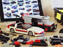 I love it when a MOC comes together 😎 (Jerry builds LEGO) Tags: lego moc wip ateam mrt faceman corvette van car tv series
