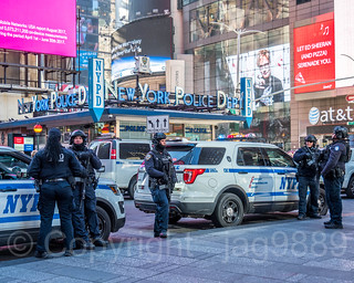 NYPD Critical Response Command Police Officers, Times Square, New York City
