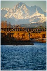 Il Gran Sasso visto dal mare (Giovanni Santori) Tags: gransasso cologna ponte natura fiume tordino ambiente foce mare
