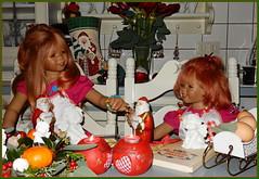 Habt einen schönen Nachmittag ... (Kindergartenkinder) Tags: advent weihnachtsbäckerei backen plätzchen kindergartenkinder annette himstedt dolls tivi sanrike