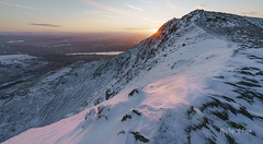 The Old Man Rises (http://www.richardfoxphotography.com) Tags: theoldmanofconiston conistonwater cumbria thelakedistrict mountain snow sunrise ice outdoors