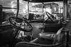 Driving Seat Vintage Style (Sara@Shotley) Tags: mono front windscreen steeringwheel leather reflections shine motor britishmotormuseum vintage cars vehicles collection seat brake