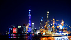 shanghai night (poludziber1) Tags: street streetphotography summer skyline sky shanghai city colorful cityscape color colorfull clouds china urban night light people blue building architecture asia fotocompetition fotocompetitionbronze