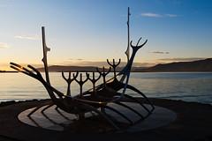 Sólfar (Christian_Z) Tags: sólfar viking drakkar reykjavik islande iceland bateau sculpture voyageur sun mer soleil sunset panasonic14140mmf3556 sunvoyager