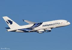 Malaysia Airlines A380-800 9M-MNA (birrlad) Tags: heathrow lhr international airport london uk aircraft aviation airplane airplanes airline airliner airlines airways takeoff departing departure runway climbing banking superjumbo malaysia mh3 airbus a380 a380800 a380841 9mmna malaysian kualalumper