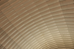 Temporary hanger roof (Jez B) Tags: brooklands museum history aviation aircraft airplane plane car auto motor vickers race racing track course circuit banked banking factory hanger roof temporary inflatable ribbed
