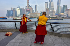 Do monks have an ego? (philippe*) Tags: shanghai monks photography street urban bund pudong