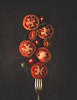 Balance (cristina.g216) Tags: tomatoes tomates rojo red balance equilibrio tenedor fork madera wood rustic