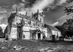 Wootton Wawen, Warwickshire. St.Peter's Church (ricsrailpics) Tags: uk warwickshire wootonwawen church saxon tower monochrome 2017