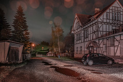 This wasn't planned (Markus Lehr) Tags: halftimbered house trees puddles lensflare countryside garage shadows car nopeople peoplelessness longexposure nightshot nightphotography heringen germany markuslehr