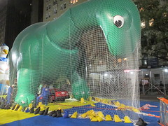 Pre - Parade Macys Balloon Blowout - Thanksgiving Eve 2017 NYC 3851 (Brechtbug) Tags: macys thanksgiving eve parade 2017 balloon blowup inflation joint nyc green sinclair oil dino brontosaurus mascot net near natural history museum central park west 11222017 balloons helium new character holiday york city christmas ornament blowing up inflating logo blowout blow out