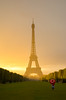 The last light (David Khutsishvili) Tags: davitkhutsishvili dkhphoto paris france îledefrance nikon d7100 champdemars sunset city architecture eiffel tower 500px