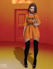 . Kiim . #Catwa #Pumec #SU #PinkFuel #Villena #Phedora #Kustom9 #KinkyEvent #Reign (Crayolas Clothes) Tags: catwa pumec su suicidaunborn villena kustom9 phedora kinkyevent reign orange black cutedress organge piura lima sl slfashion fashoio fashion fashiongirl chic chica gurl girl urban tangerine disco diva harness squeleton gerters ribbon slblog backdrop plain shirt fashionsl